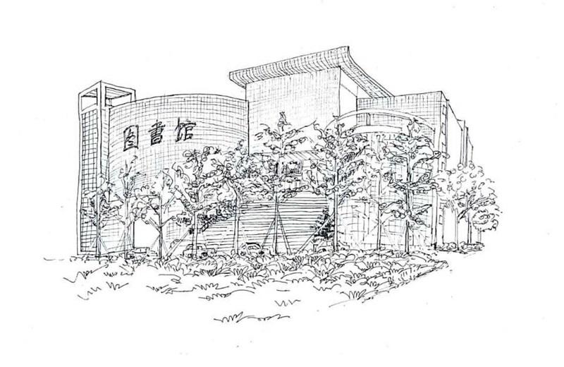 """大二女生手绘校园建筑 """"笔尖上的功夫""""让人折服"""