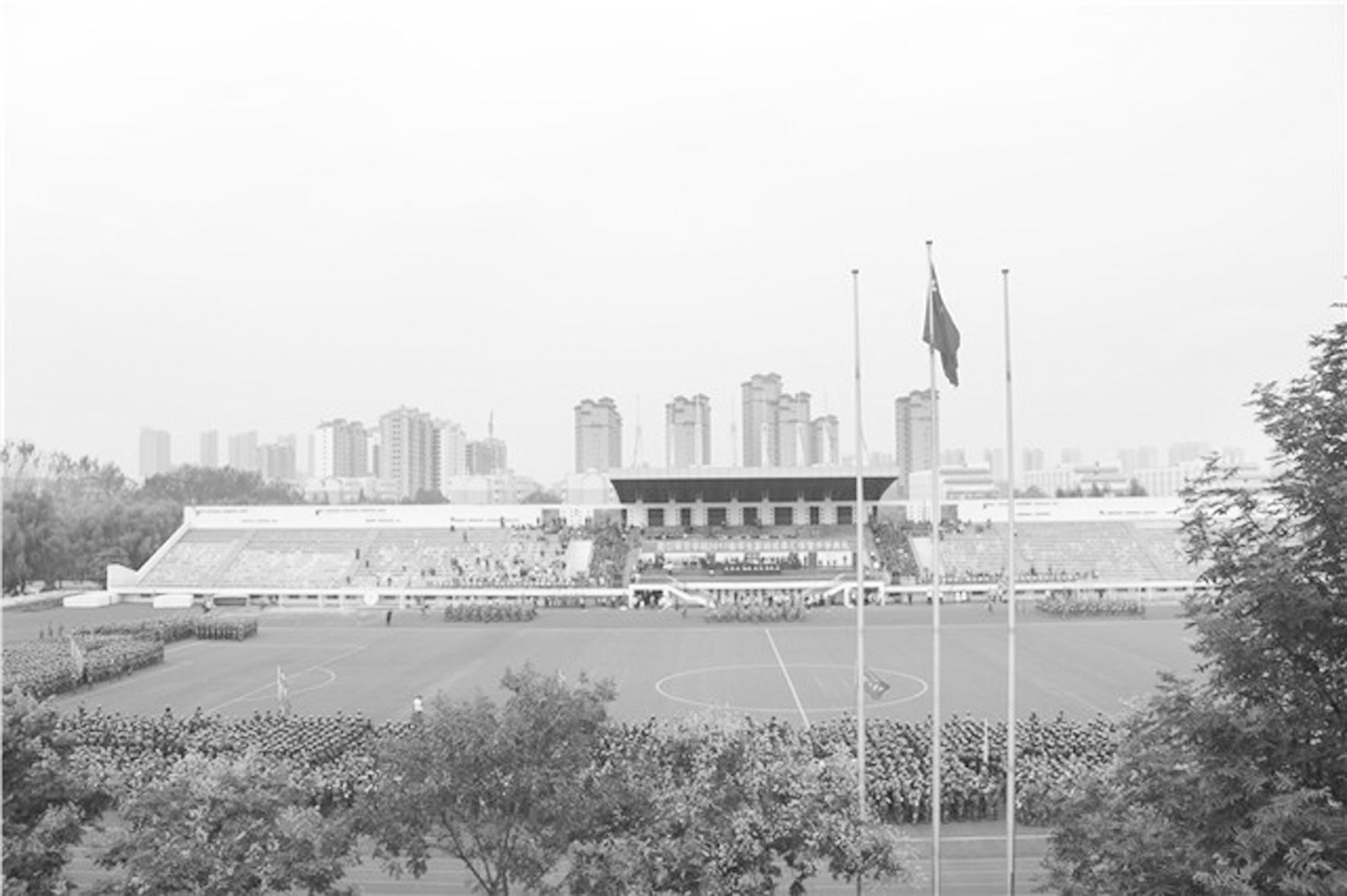 学校隆重举行2017级学生军训成果汇报暨开学典礼