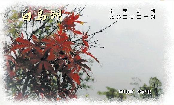 文 艺 副 刊总第三百三十期-湖南文理学院校报电子版