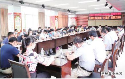 """良圻农场公司总部机关党支部开展""""三会一课""""和"""