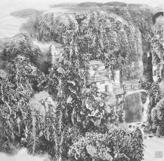 创作与欣赏秋山图(中国画)
