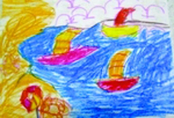 保护大海儿童画