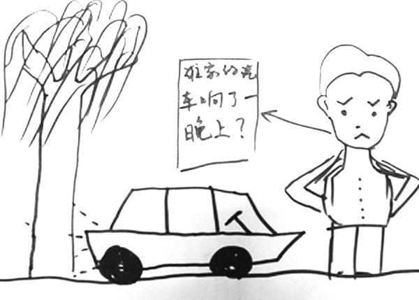 环境污染的手绘图
