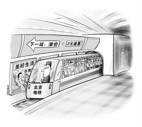 地铁卡通简笔画