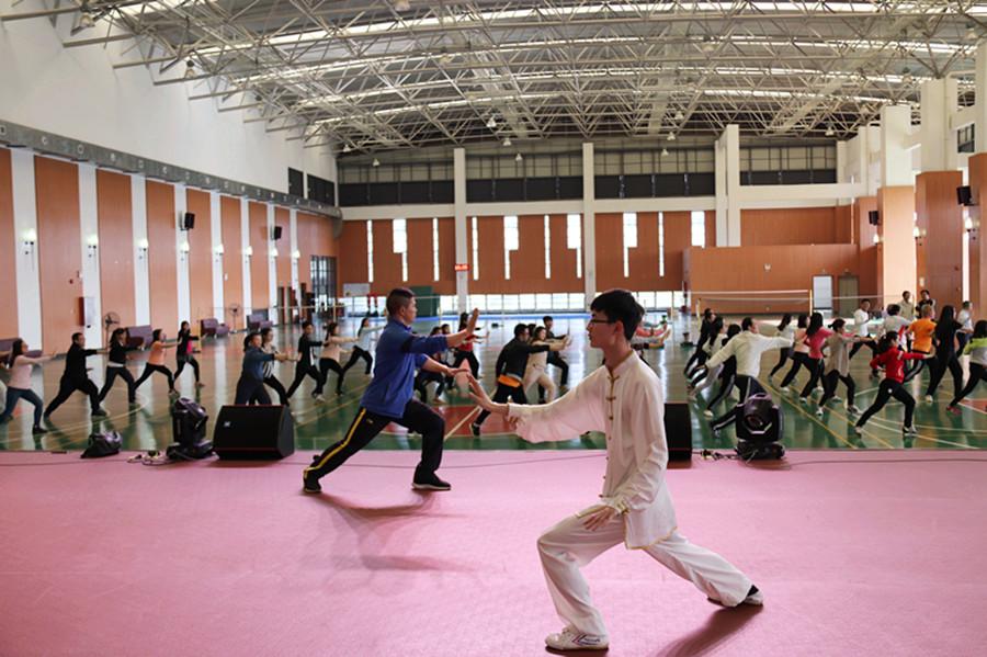 弘扬太极文化  提升身体素质-广州商学院校报电子版